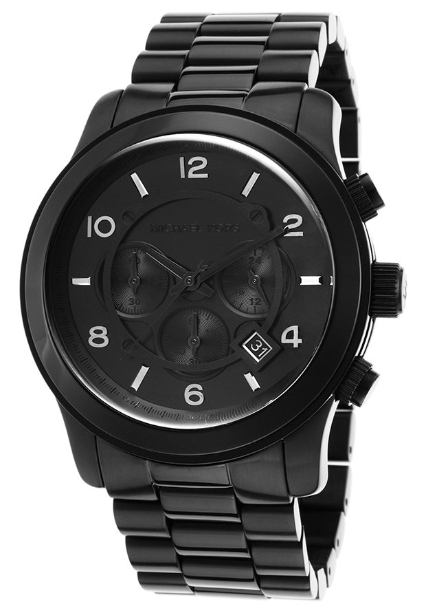 Michael Kors MK8157 Watches,Men's Black Dial Black Stainless Steel, Casual Michael Kors Quartz Watches