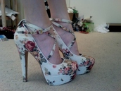 high heels,straps,shoes,high floral heels,strappy,adorable.,amazing