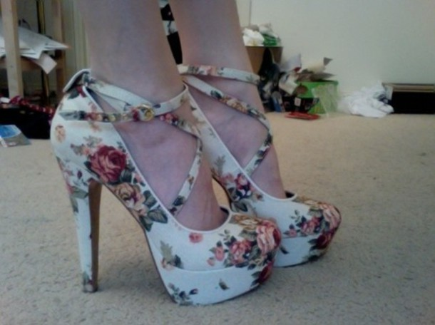 high heels straps shoes high floral heels strappy adorable. amazing