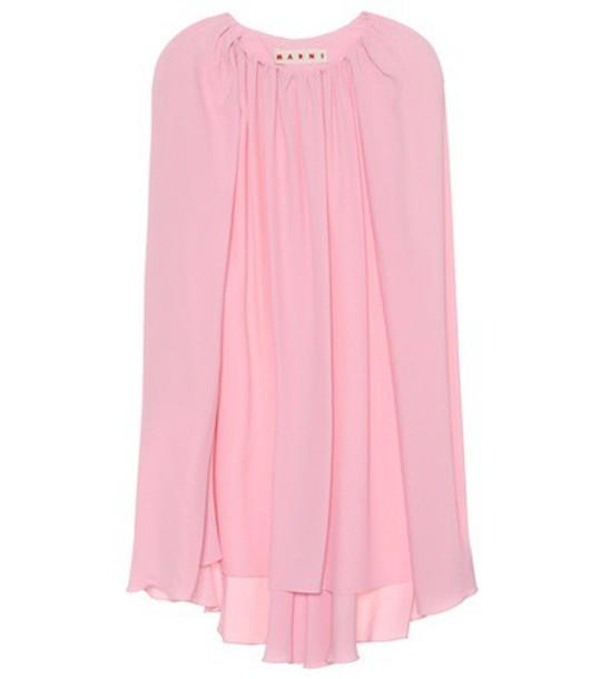 MARNI top cape style silk pink