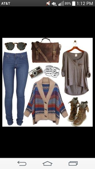 bag brown bag tote buckles hipster bag