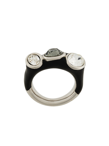 Atelier Swarovski women ring black jewels
