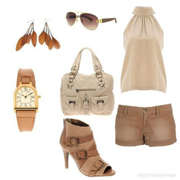 blouse girly neutral colors