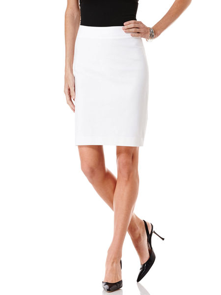 Rafaella - Solid Double Weave Pencil Skirt