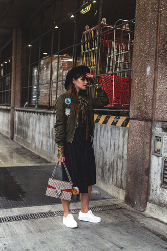 the fashion fraction blogger jacket blouse skirt bag shoes hat