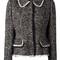 Dolce & gabbana tweed jacket, women's, size: 38, black, cotton/polyamide/spandex/elastane/spandex/elastane