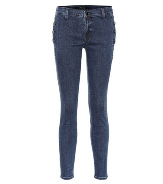 J Brand Zion mid-rise skinny jeans in blue