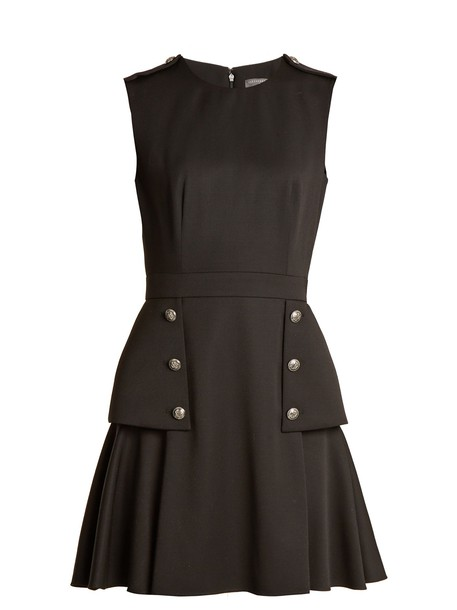 Alexander Mcqueen dress mini dress mini wool black