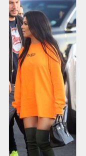 dress,kim kardashian,orange,kardashians