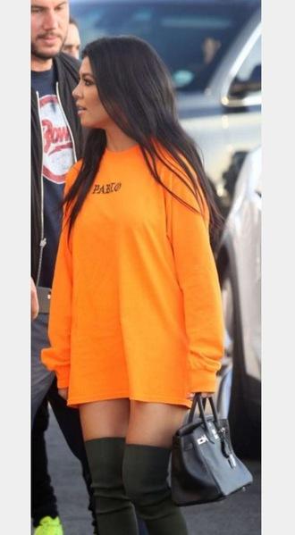 dress kim kardashian orange kardashians