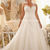 A-line Sweetheart Chapel Train Crystal Lace Tulle Plus Size Wedding Dresses2014 - Gardeniasite