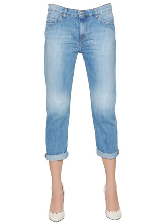 jeans denim boyfriend cotton blue