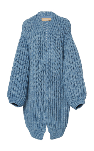 Oversized Alpaca-Cotton Cardigan by Michael Kors Collection | Moda Operandi