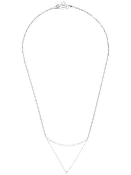 women layered necklace diamond necklace gold grey metallic jewels