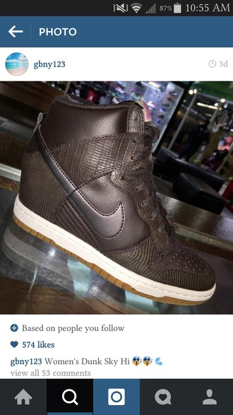 shoes brown shoes womens nike dunk wedges
