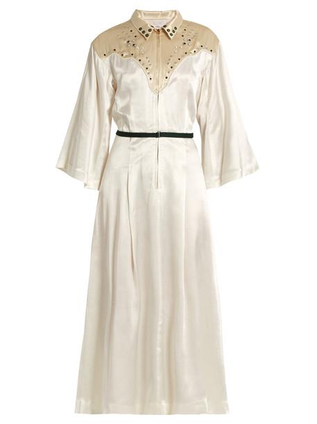 Toga dress satin dress embellished satin