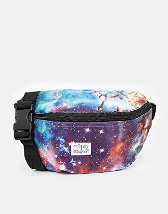 bag galaxy print belt bag 90s style print