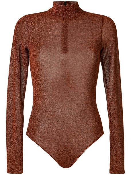 A.F.VANDEVORST body glitter women yellow orange underwear