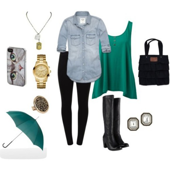 blouse green blouse jacket jean jacket sweater