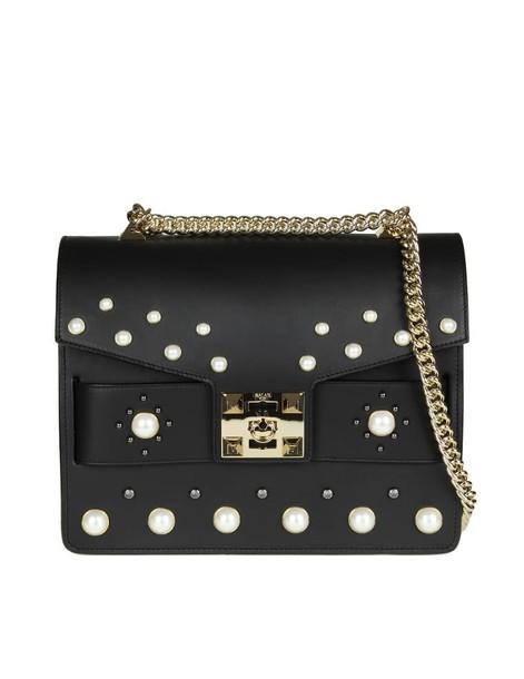 Salar pearl bag leather black black leather