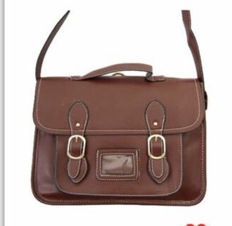 bag brown old school cute style small bag leather brown leather shoulder bag