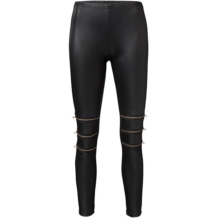 Double zipper legging black