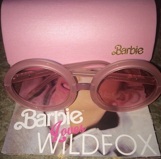 sunglasses barbiesunglasses pinkshades pink sunglasses barbie70s 70ssunglasses shades barbie 70s style highfashion