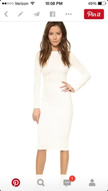 dress white long sleeve dress