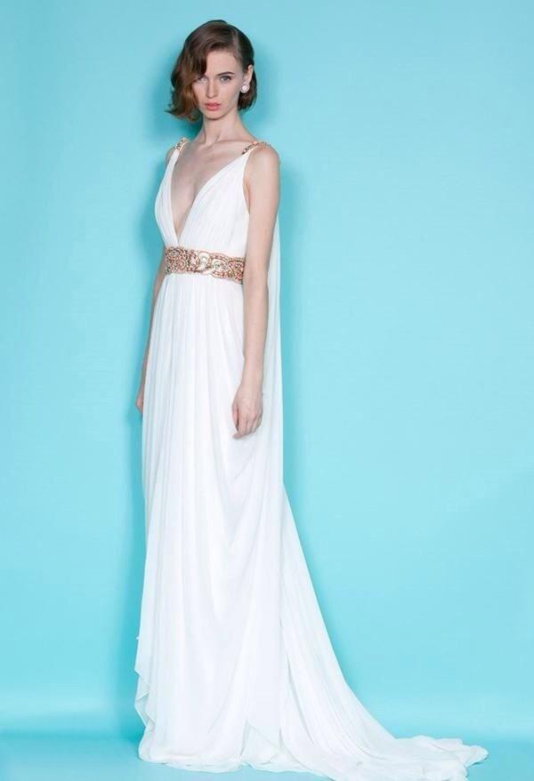 Dress: prom prom maxi wedding marchesa