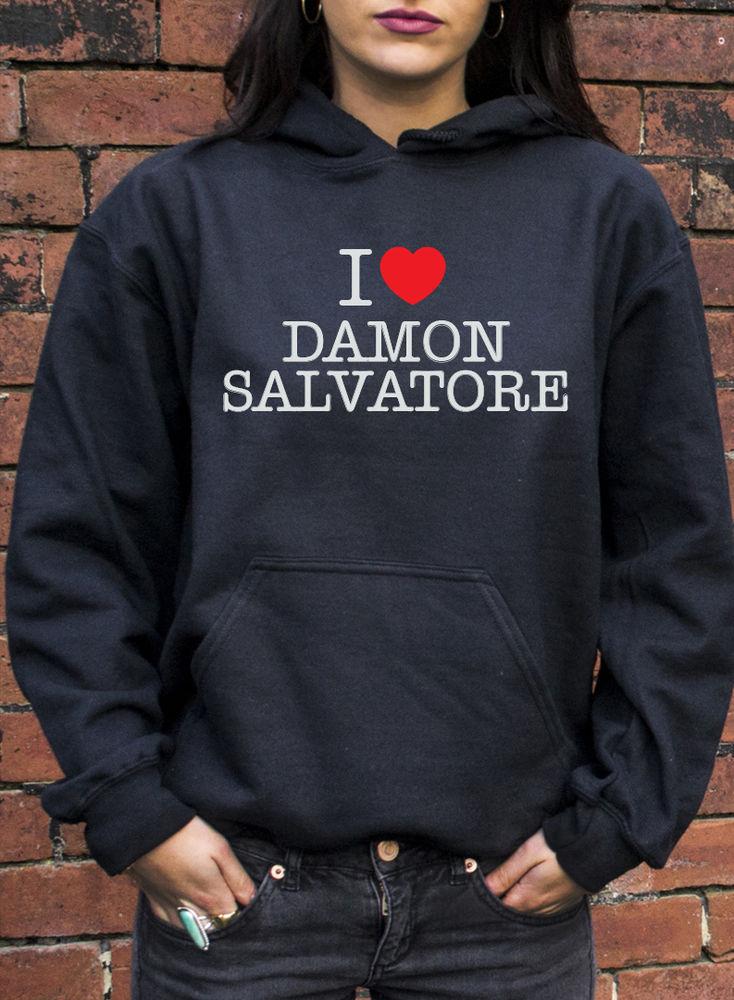 I Love Damon Salvatore Jumper Hoodie Vampire Diaries Ian