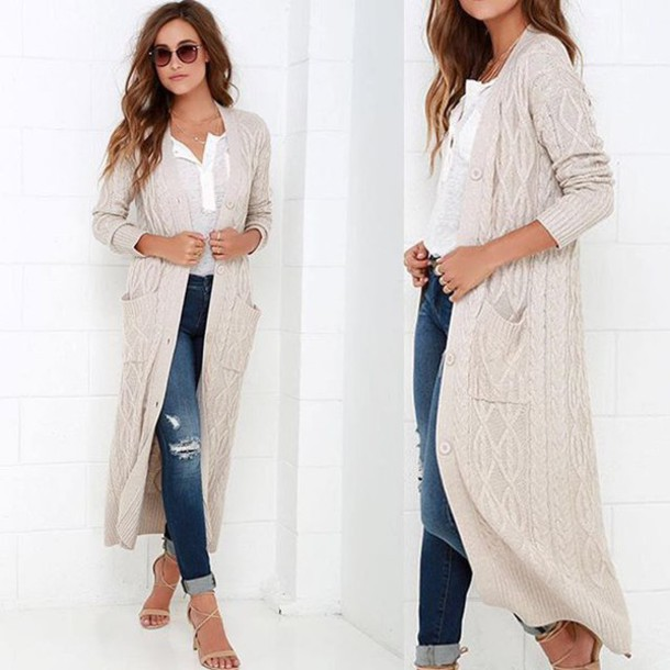 Stylish long cardigan street outfits fall 2017 – What Woman Needs