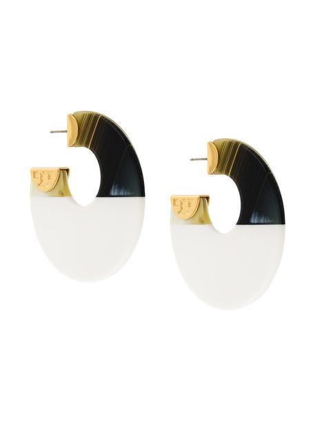 Tory Burch women earrings hoop earrings white jewels