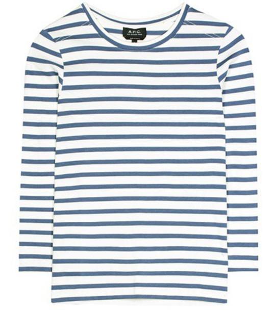 A.P.C. shirt cotton blue top