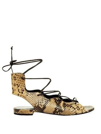 python sandals lace shoes