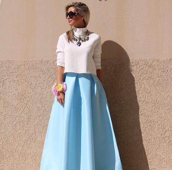 skirt blue skirt style