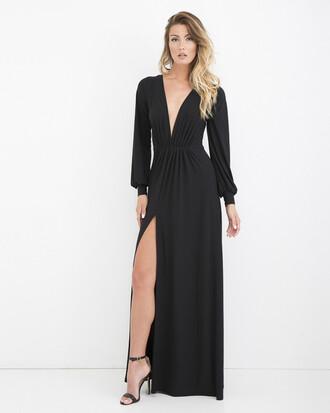 dress black black dress maxi dress black maxi dress slit slit dress
