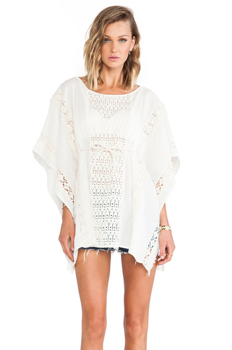 top jen's pirate booty kaftan lace crochet ivory tunic top
