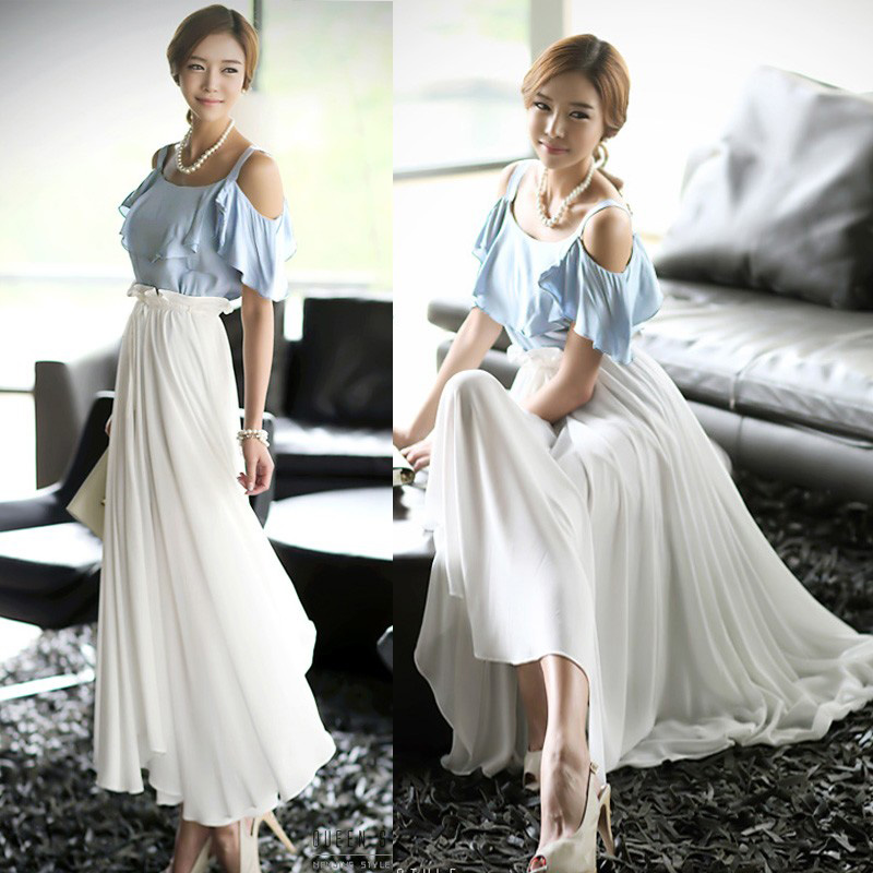 Women Summer Evening Beach Dress Korea Party Cocktail Long Tunic Dress XB755 | eBay