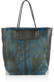 Prisma deer and leather tote | Alexander Wang | THE OUTNET