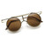 Steampunk Vintage Inspired Fashion Crossbar Flip Up Metal Sunglasses 8                           | zeroUV