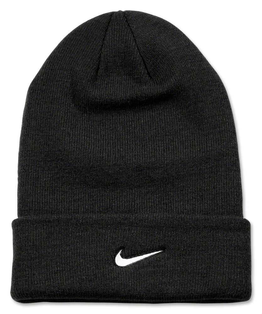 Nike Stock Cuffed Knit Beanie (Blk/Wht) - WorldSoccerShop.com