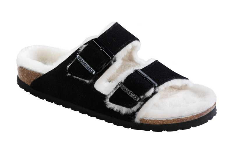 Arizona Suede Sheepskin Lining Black 652631 - Birkenstock