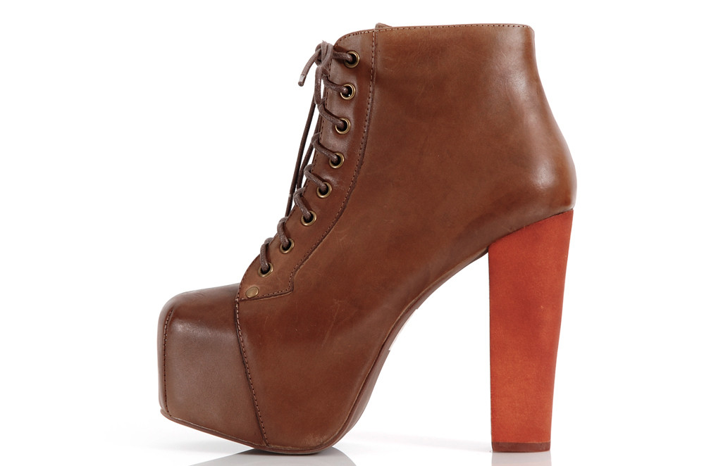 Jeffrey Campbell Lita Wood Calf Brown | eBay