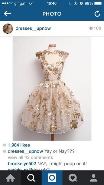 dress prom dress gold dress