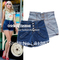 Sh10* 2013 plus size s xl celebrity style button up high waisted cuffed stretch denim shorts hotpants hot pants-injeans from apparel & accessories on aliexpress.com