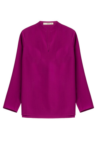 blouse tunic silk purple top