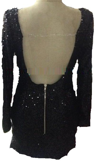 Outletpad   Sequined Strapless sequin dress hollow back long sleeve    Online Store Powered by Storenvy