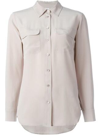 shirt women silk purple pink top