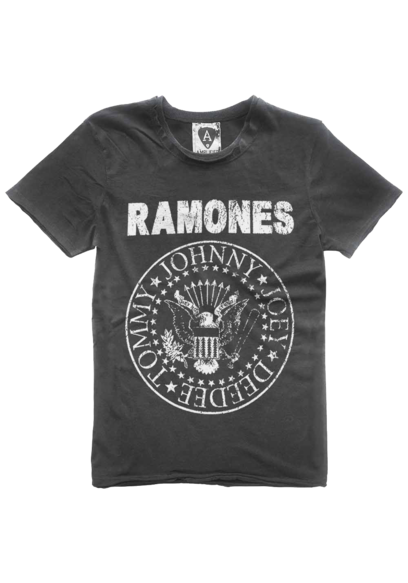 Amplified ramones logo  t shirt by amplified