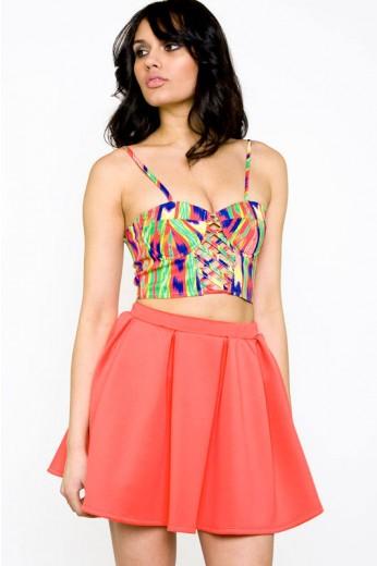 Coral Scuba Skirt- $44